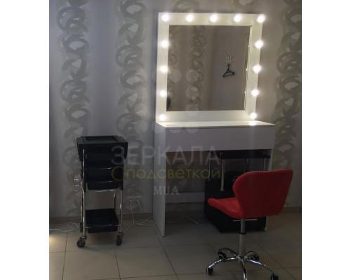 Туалетный стол Верона с зеркалом и подсветкой