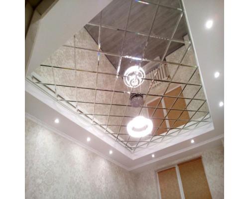 Зеркальное панно на потолок с фацетом
